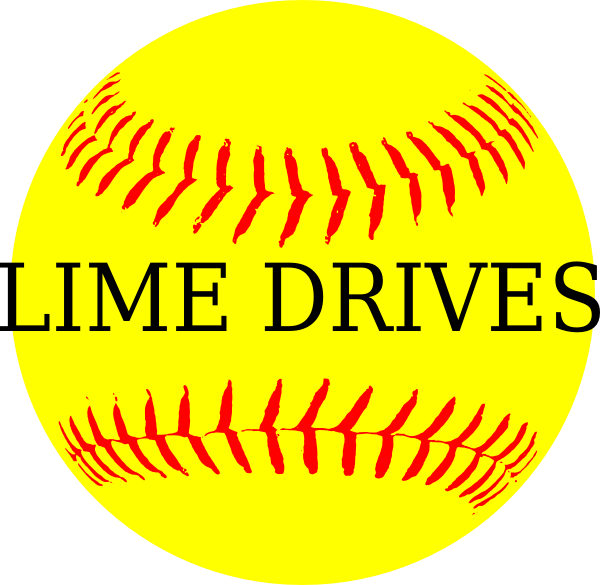 Softball clipart tail. Yellow lime drives clip