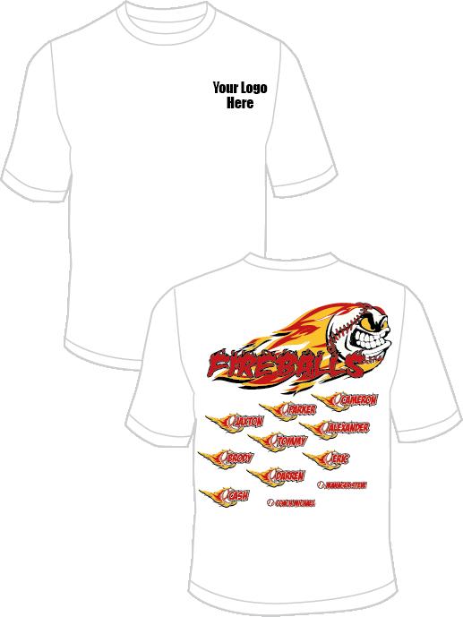 Softball clipart tshirt. Fireballs practice t shirt