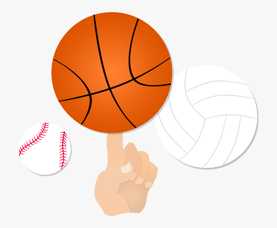 Softball clipart volleyball. Sports basketball in one