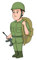 Free military clip art. Soldiers clipart