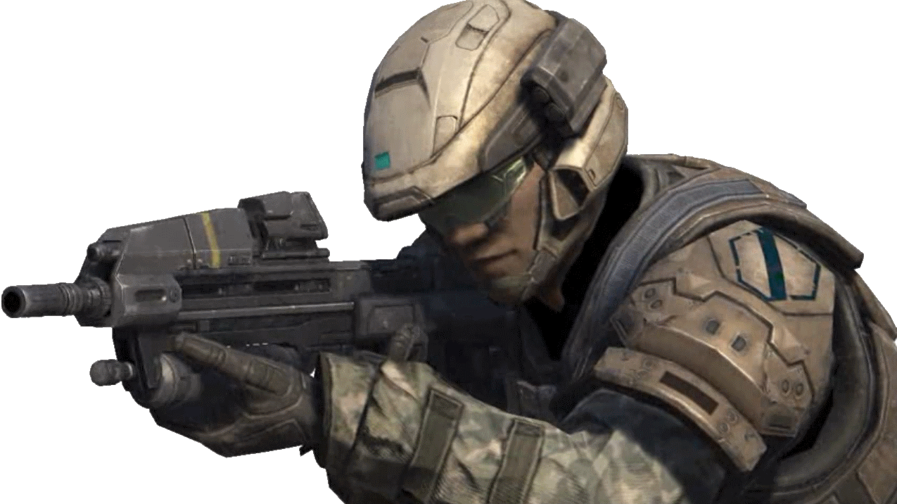 Soldier helmet png. Image halo reach army