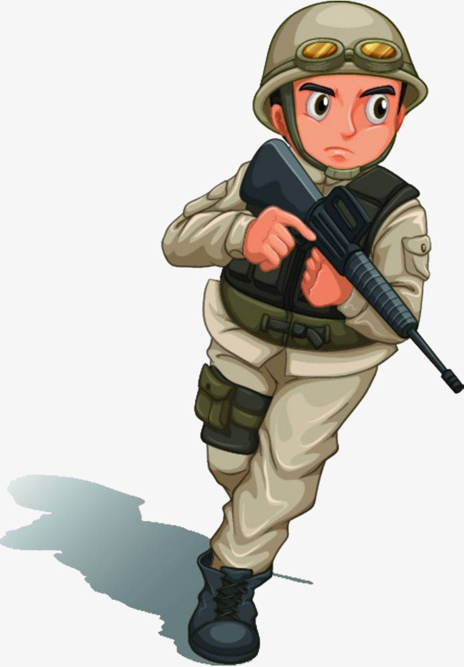 Soldiers clipart. With guns png vectors