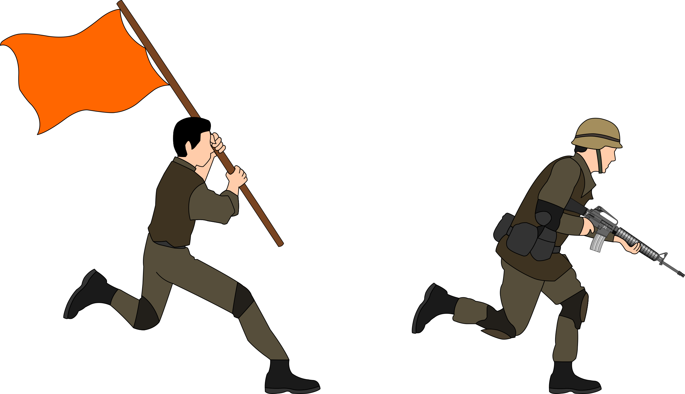 Charging big image png. Soldiers clipart