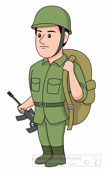 Military clipart soilder. Soldier free clip art