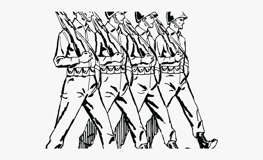 Transparent background soldier clip. Soldiers clipart black and white