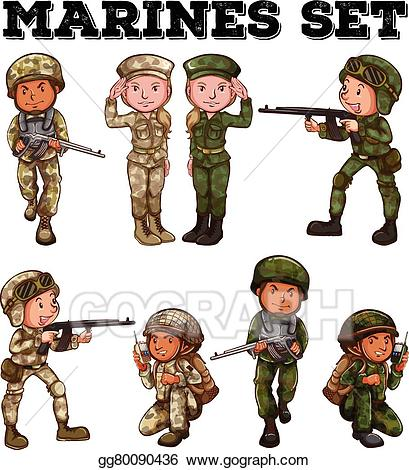 Vector art man and. Soldiers clipart brave soldier