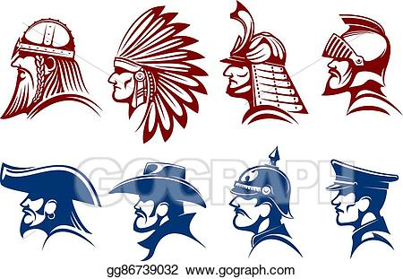 Vector illustration blue and. Soldiers clipart brave soldier