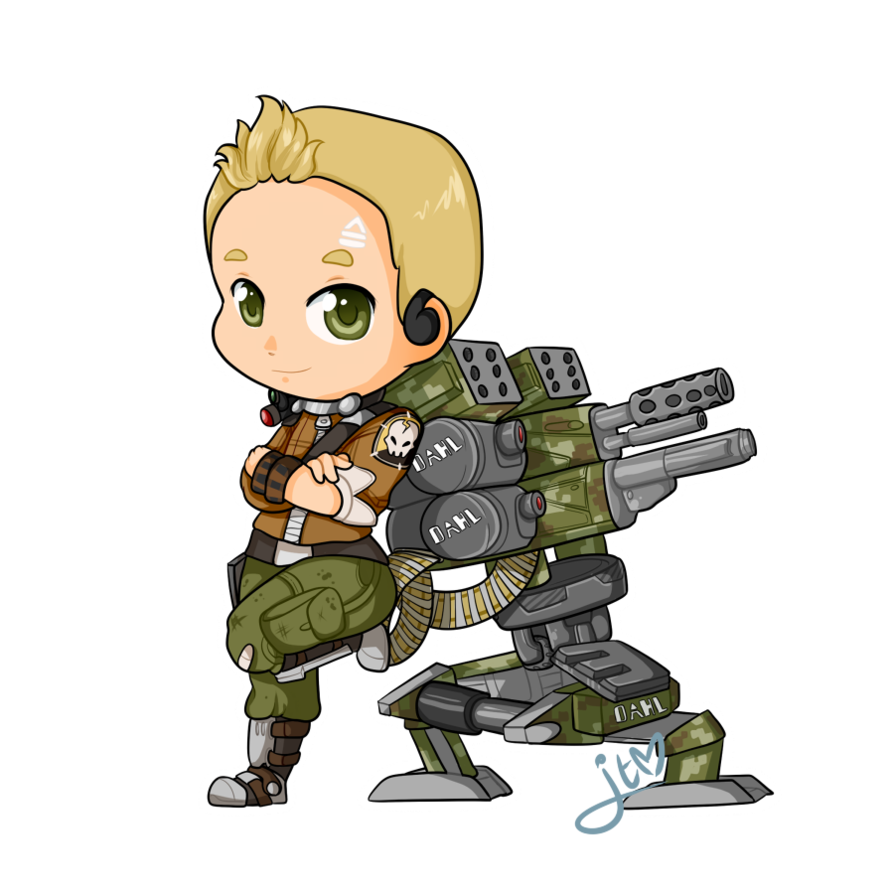 Axton the chibi by. Soldiers clipart commando