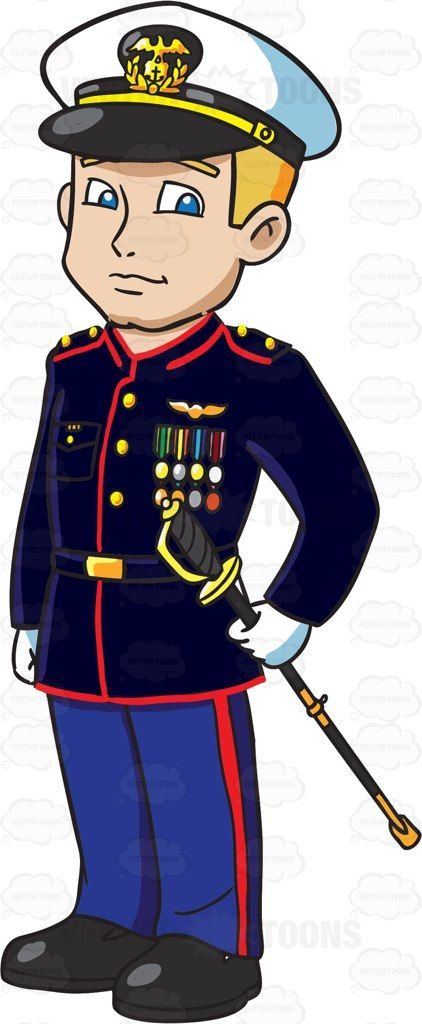 Soldiers clipart officer. A us marines dressed