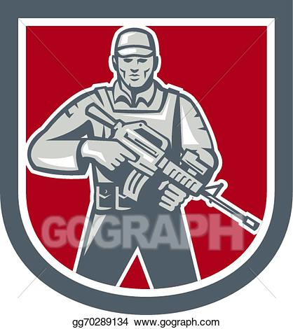 Soldiers clipart serviceman. Vector art soldier with