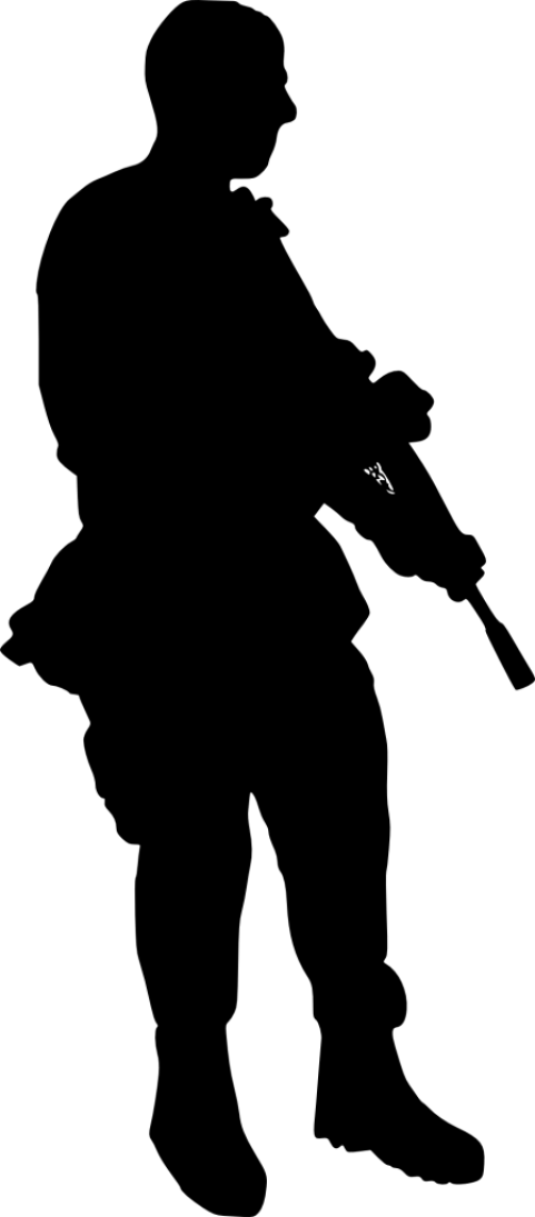 Soldiers clipart serviceman. Soldier silhouette png free