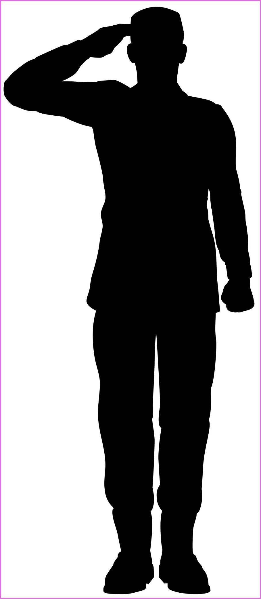 Awesome army soldier saluting. Soldiers clipart shoe