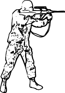 Soldiers clipart solder. Soldier silhouette clip art