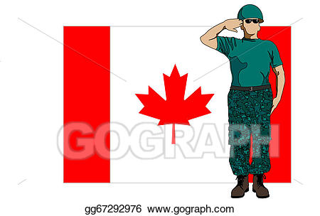 Vector stock canada flag. Soldiers clipart soldier canadian