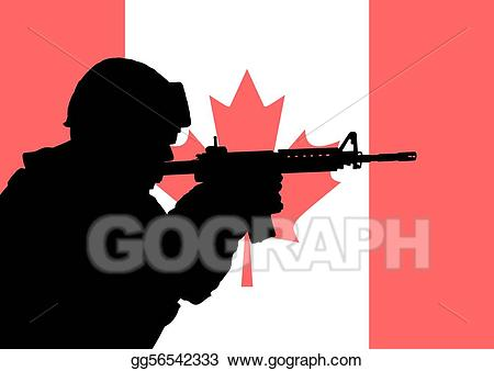 Soldiers clipart soldier canadian. Stock illustration