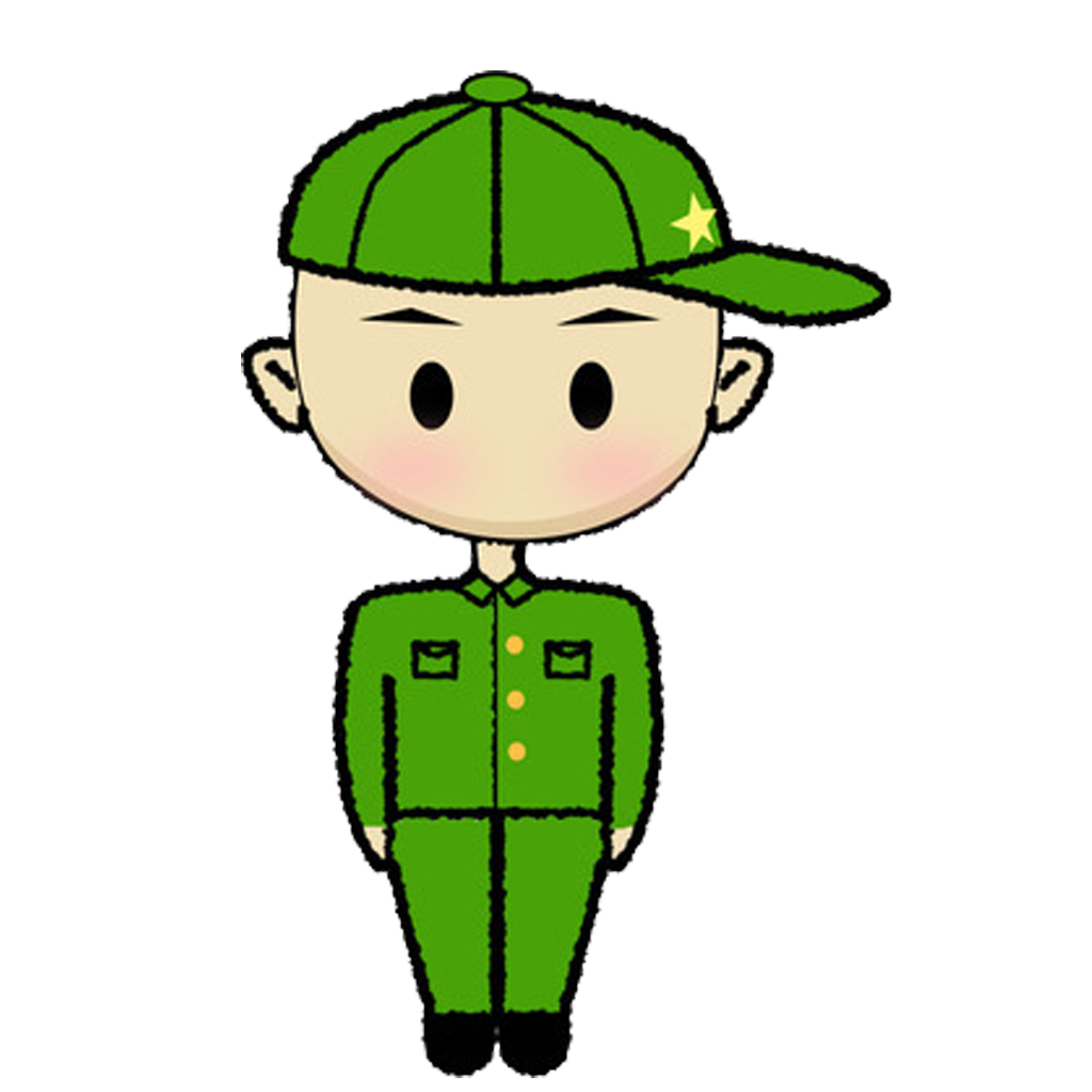 Soldiers clipart soldier salute. Cartoon transprent png