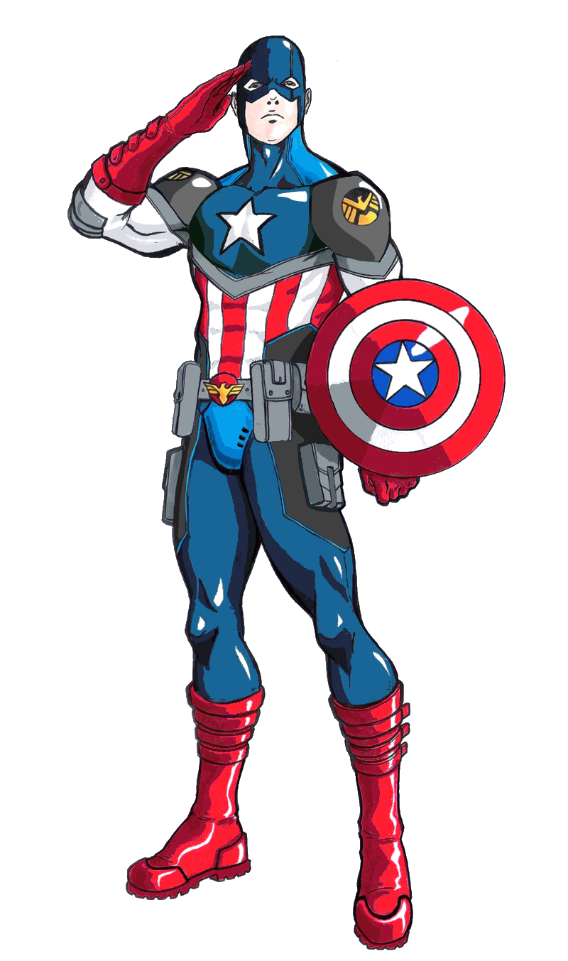 Soldiers clipart soldier salute. Steven rogers earth comic