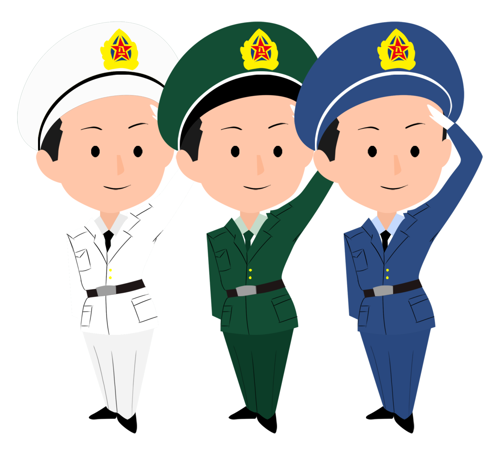 Cartoon drawing animation national. Soldiers clipart soldier salute