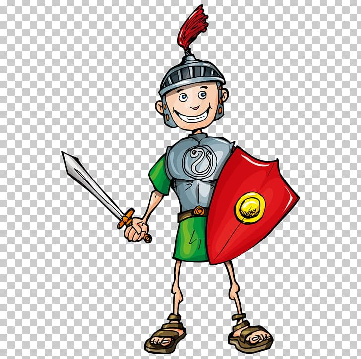 Soldiers clipart solider. Cartoon legionary soldier roman