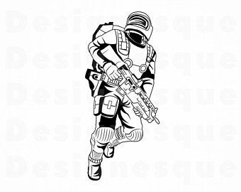 Soldiers clipart space. Soldier etsy