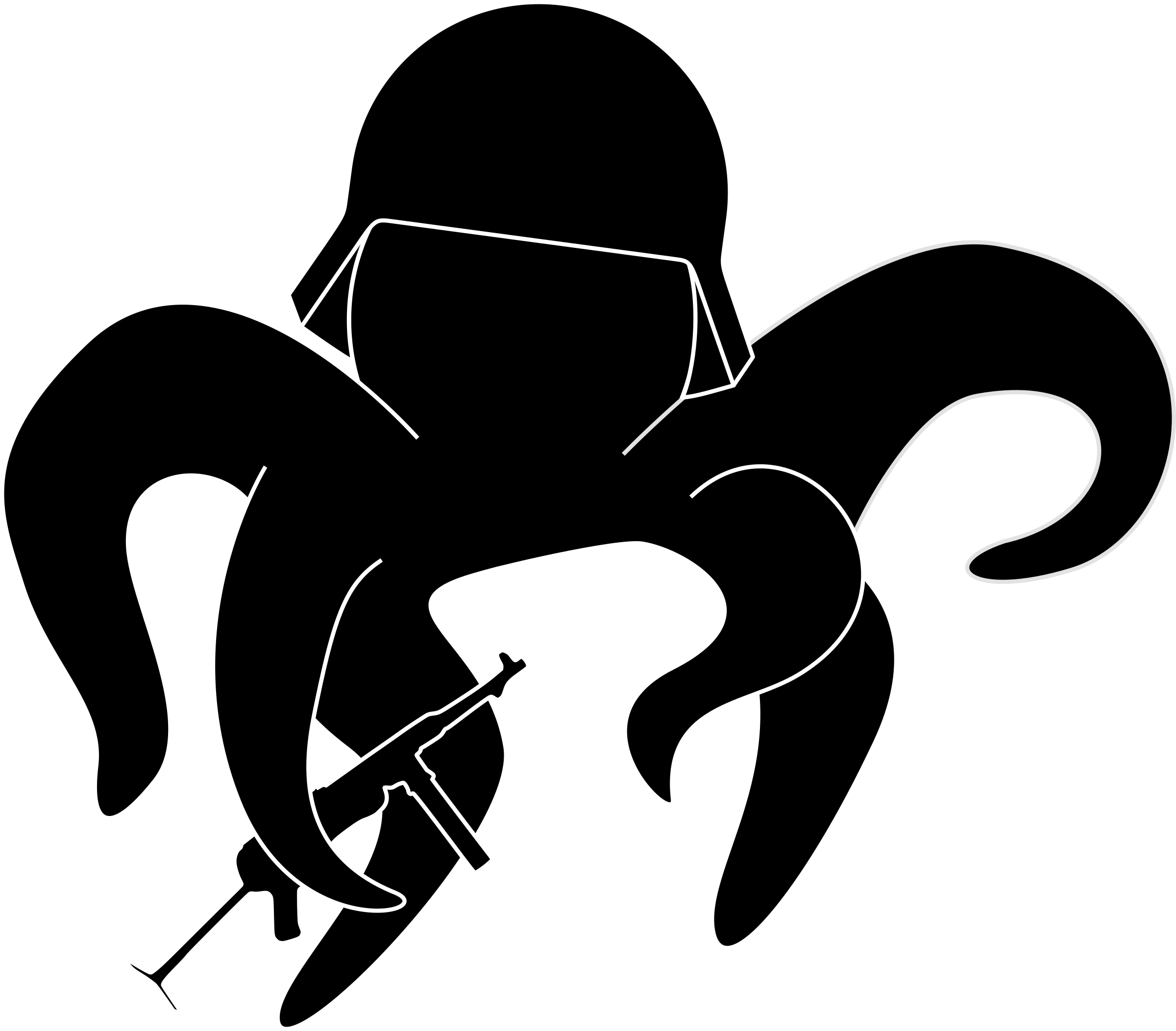 Octopus stormtrooper big image. Soldiers clipart stencil