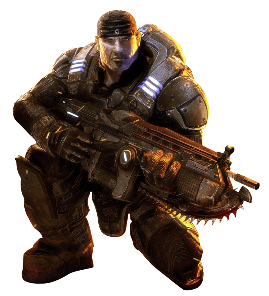 Soldiers clipart transparent background. Gears of war bw