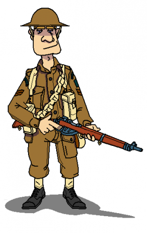 Soldiers clipart ww1. Free wwi soldier cliparts