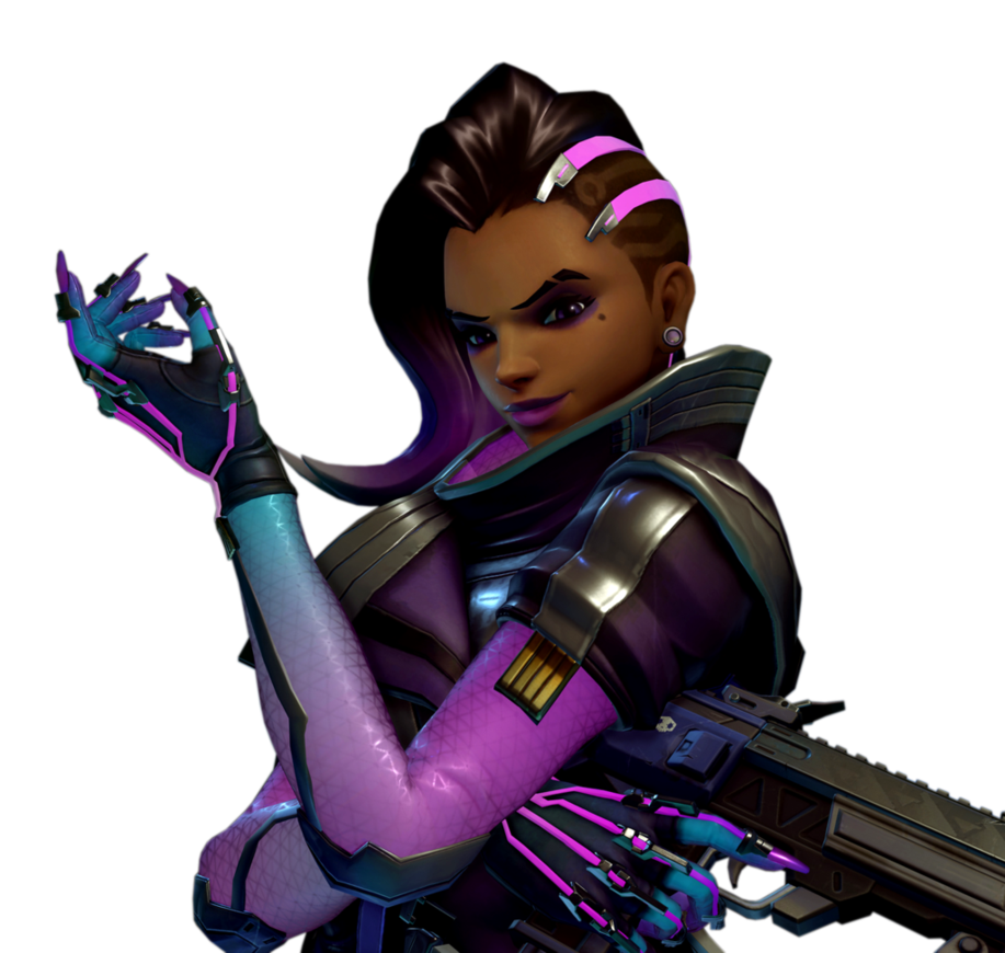 Sombra overwatch png. Render by popokupingupop on