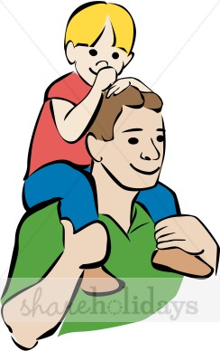 Son clipart. Colorful father and fathers