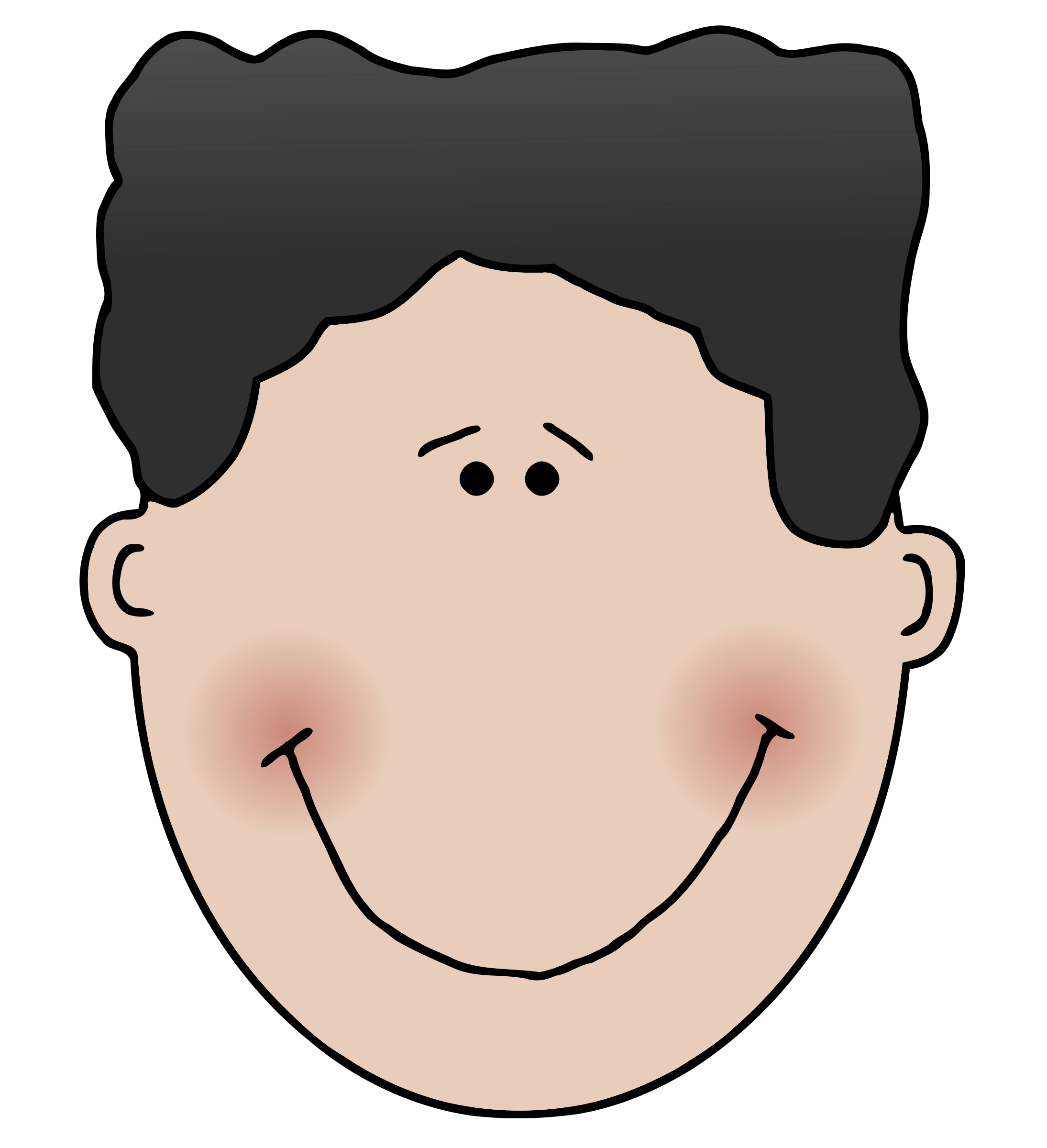 Son clipart face to face. Boyface big image png