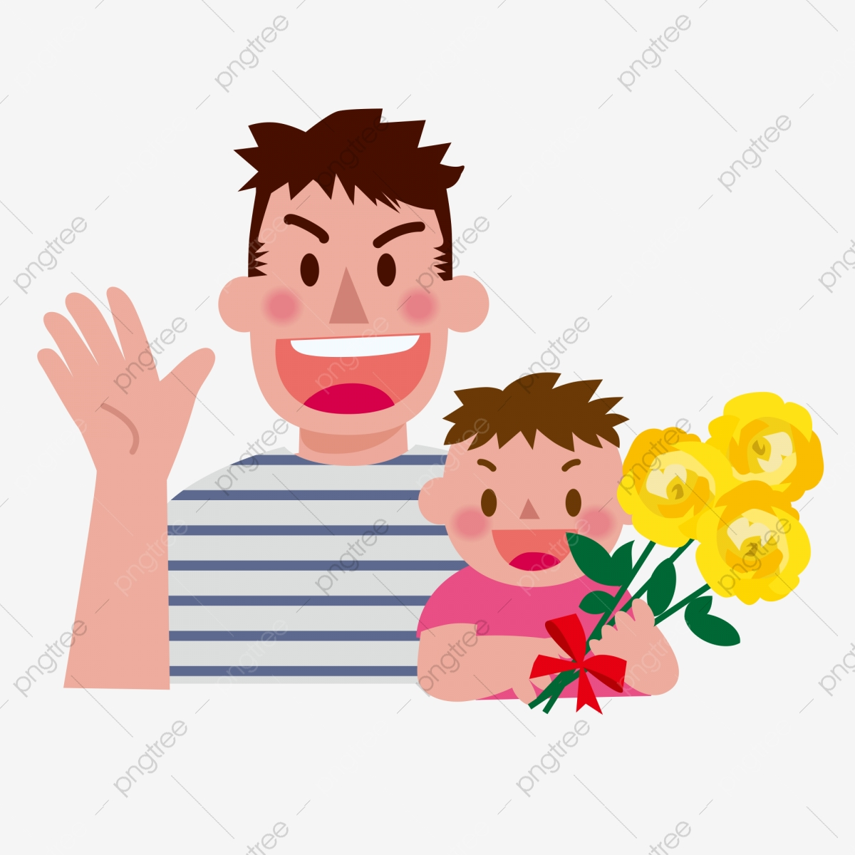 Fathers day warm and. Son clipart happy father