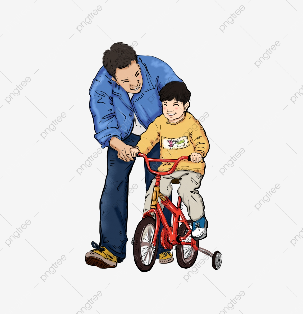 Son clipart happy father. Fathers day hand drawing