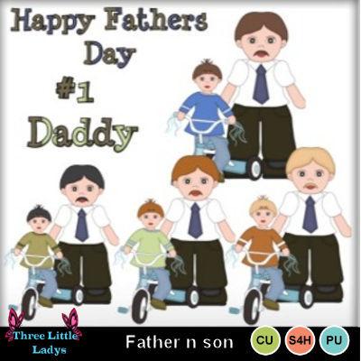 Clip art father n. Son clipart three little