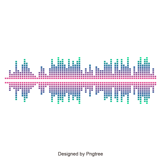 Music design and. Sound wave vector png