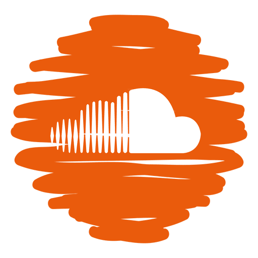 Distorted round transparent svg. Soundcloud icon png