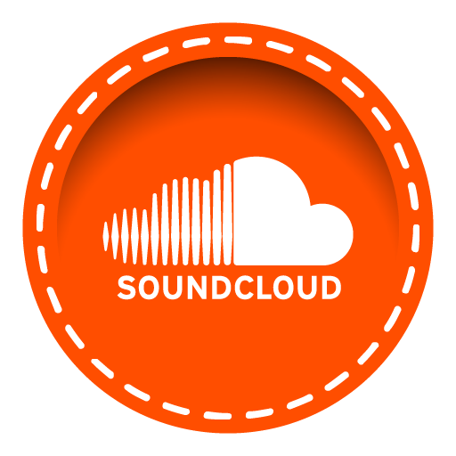 Stitched social media iconset. Soundcloud icon png