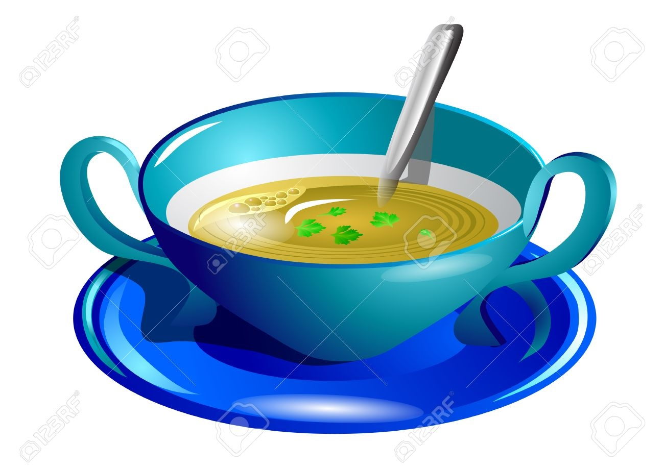 Fresh collection digital coloring. Soup clipart