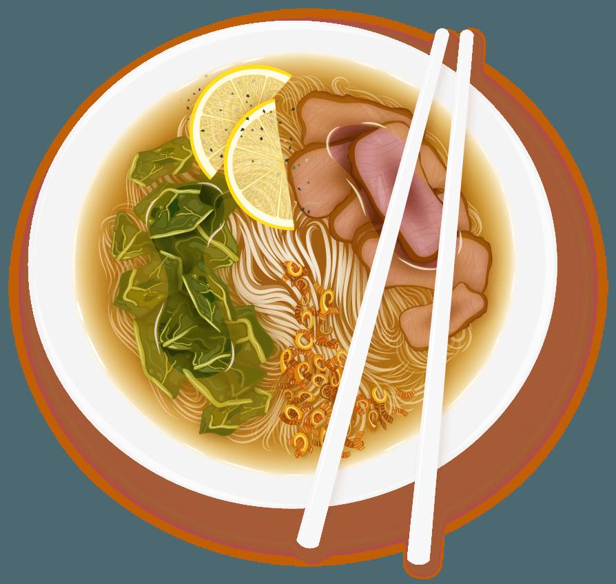 Soup clipart bowl pho. Noodler the noodle oracle