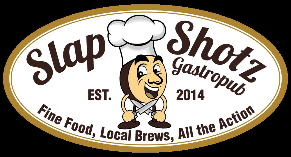 Slap shotz gastropub . Soup clipart clam chowder