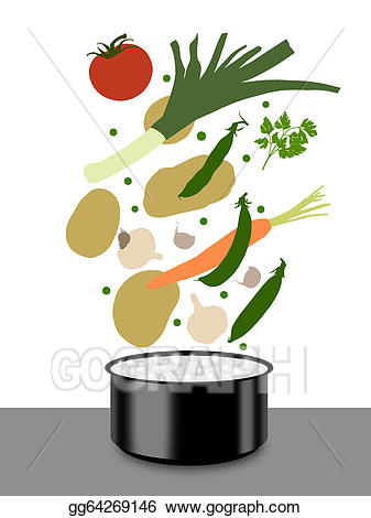 Clip art vegetables cooking. Soup clipart cooked vegetable