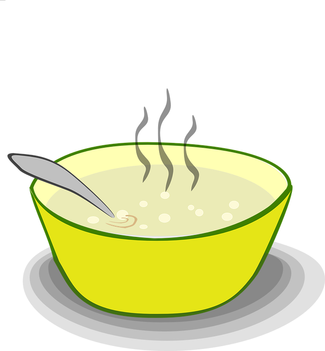 Soup clipart full bowl. Finals week as told