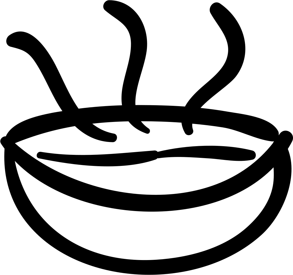 Soup clipart hand drawn. Hot bowl food svg