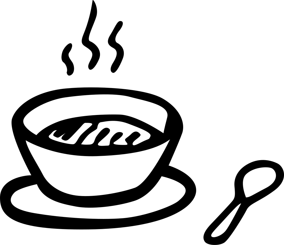 Soup clipart hand drawn. Hot bowl with a