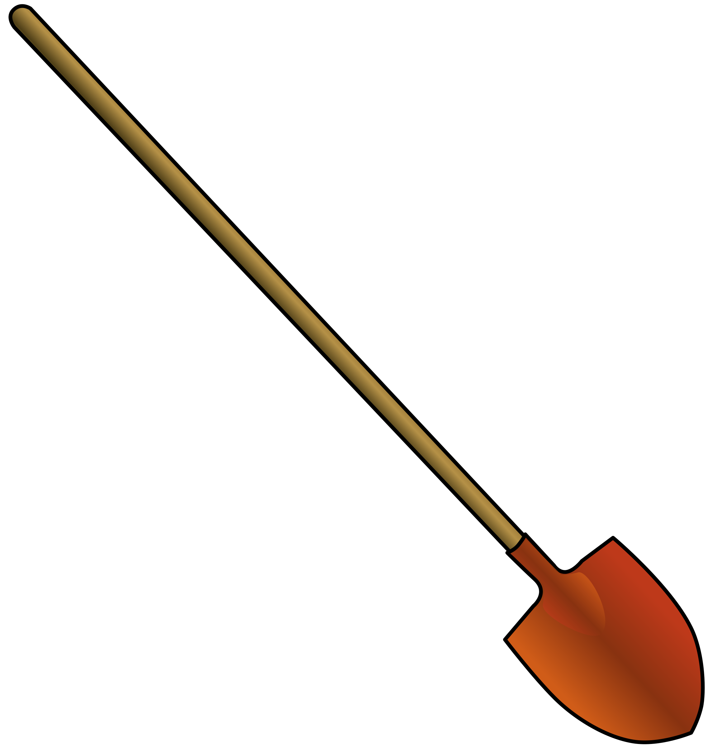 Soup clipart ladel. Round point shovel big