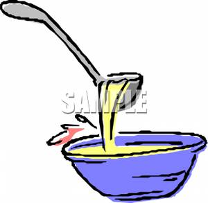 Soup clipart ladel. A ladle and bowl