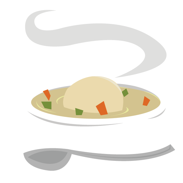 Catering brooklyn diner. Soup clipart matzo ball soup