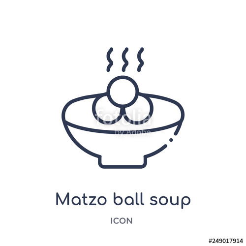 Icon from religion outline. Soup clipart matzo ball soup