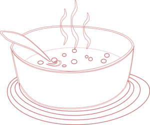Soup clipart outline. Red clip art at