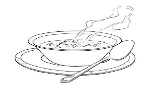 Image result for bowl. Soup clipart outline