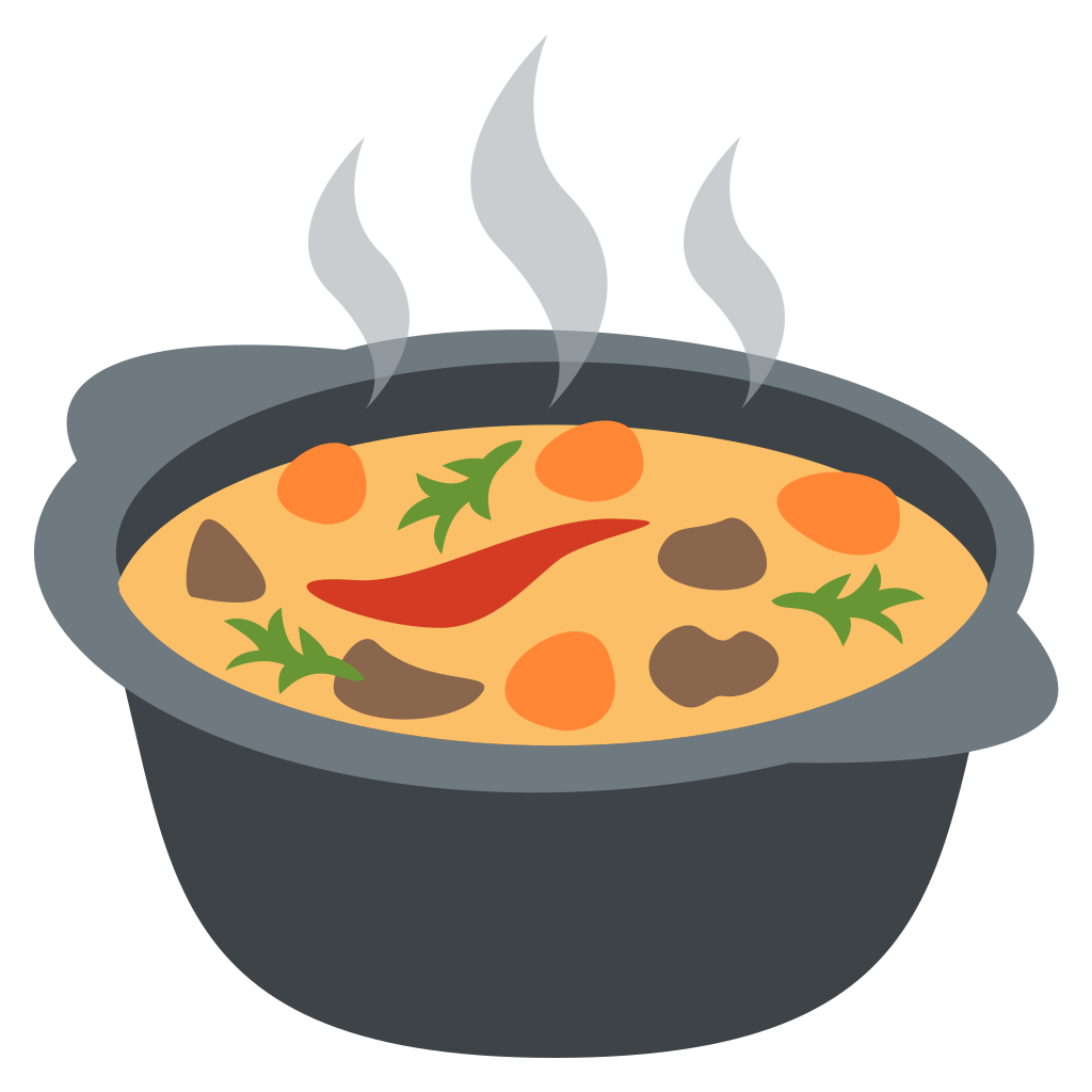 Soup clipart soup cauldron. File emojione f svg